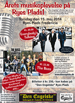 Koncert med Everybody's Talking og The Boss